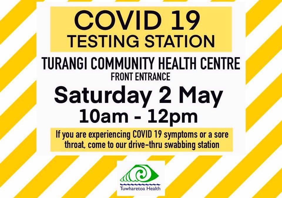 COVID-19 TURANGI – SWABBING STATION